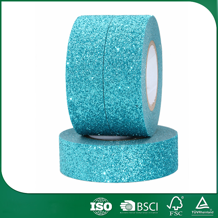 birthday gift packing decorative colored glitter tape