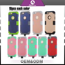 Made in China luxury 3 in 1 phone cover 4-point rear guard cell phone case free sample phone case