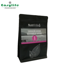 eight sides seal packaging bag / Quad seal foil flat bottom coffee pouch/coffee bean packaging bags