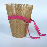 2016 Valentine's day paper weave pot cover/flower pot cover