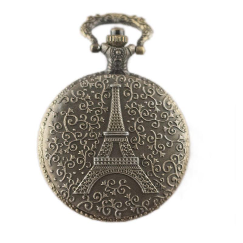 famous French tower big Pocket Watch, hollow Factory Direct Sale! each one has a chain