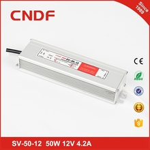 Factory outlet ac dc waterproof constant voltage led driver 50W 24VDC 2.1a power supply for led lights