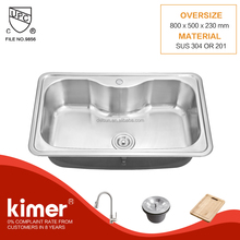 TOP MOUNT USED APARTMENT SIZE IRREGULAR SHAPE KITCHEN SINKS FOR SALE
