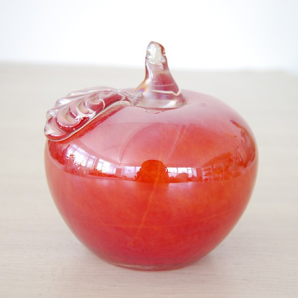 Wholesale Hot Selling Small Handblown Decorative Red Christmas Gift Glass Apple