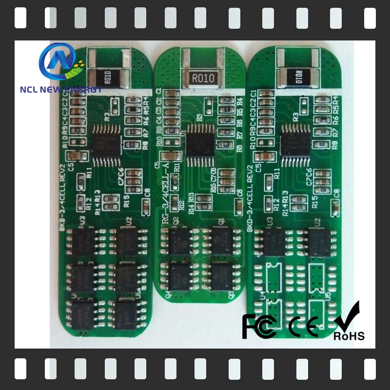 6A storage 4S 12V lifepo4 battery pcb pcm board 70a smart bms 12s