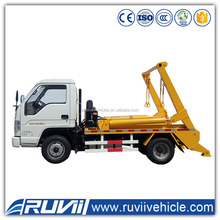 2016 diesel dongfeng 4*2 mini type 3cbm hook arm waste garbage truck 4x2 swing arm roll type garbage truck for sale