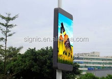 P6 Wireless Control One-Stop Lighting Pole LED Display for Street Advertising