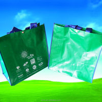 cheap price customed logo plastic woven shopping bags with handle