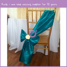 19520 wholesale cheap teal taffeta chair sash for wedding