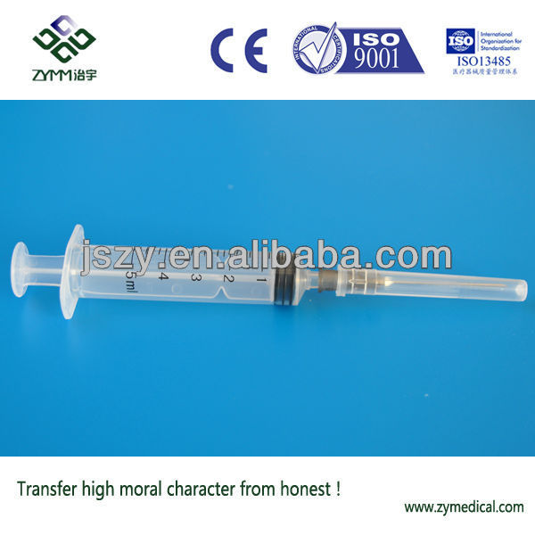 5ml disposable sterile plastic syringe