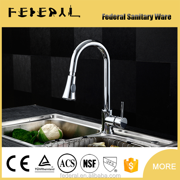 High Quality Copper Kitchen Faucet, Polish and Chrome Finish, Best Sell