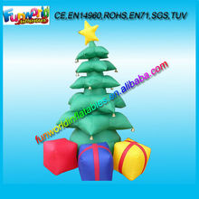 Popular Sales Outdoor/ Indoor Inflatable Christmas Tree With Gift (FUNCP1-015)