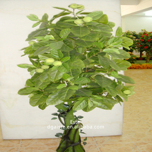 Decorative artificial green apple tree bonsai fruit tree potted plant