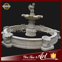 Garden Angel Water Fountain With Fish Sculpture