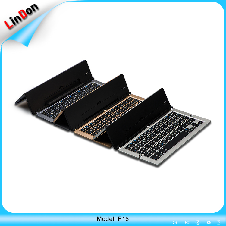 Newest Design Metal Mini Foldable Wireless Pocket Bluetooth 3.0 Keyboard For Apple iOS Smartphone & Tablets