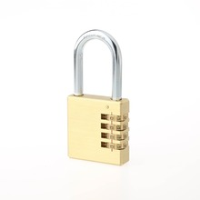 CH-04Y 50mm big keyless 4 digital combination brass lock