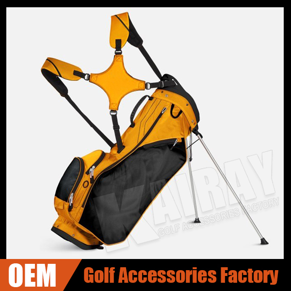 Wholesale nylon shoulder strap bag stand carry golf bags