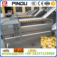 industrial root vegetable and fruit ginger washing and peeling machine price in philippines/stainless steel washer
