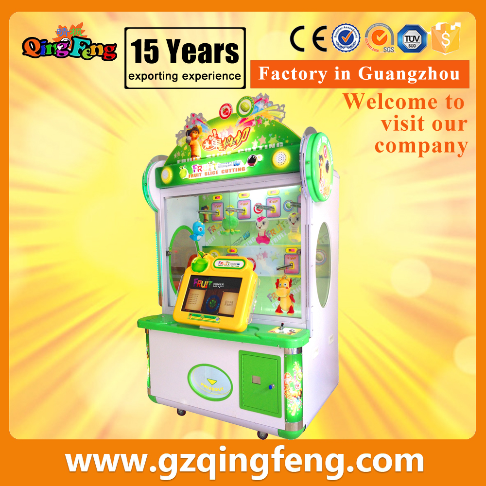 Qingfeng coin operated games Cut fruits arcade machine electronic game machine for kids