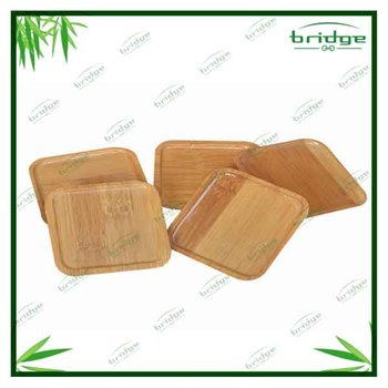 5pcs bamboo coffee cup mats set