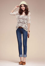 2013 OEM Lace knitwear with half sleeves