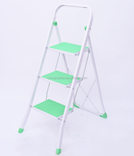 3-step steel ladder folding, portable steel stairs