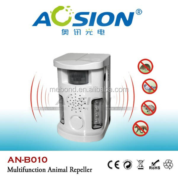 Aosion Supply garden equipment ultrasonic and battery powered dog cat repellent