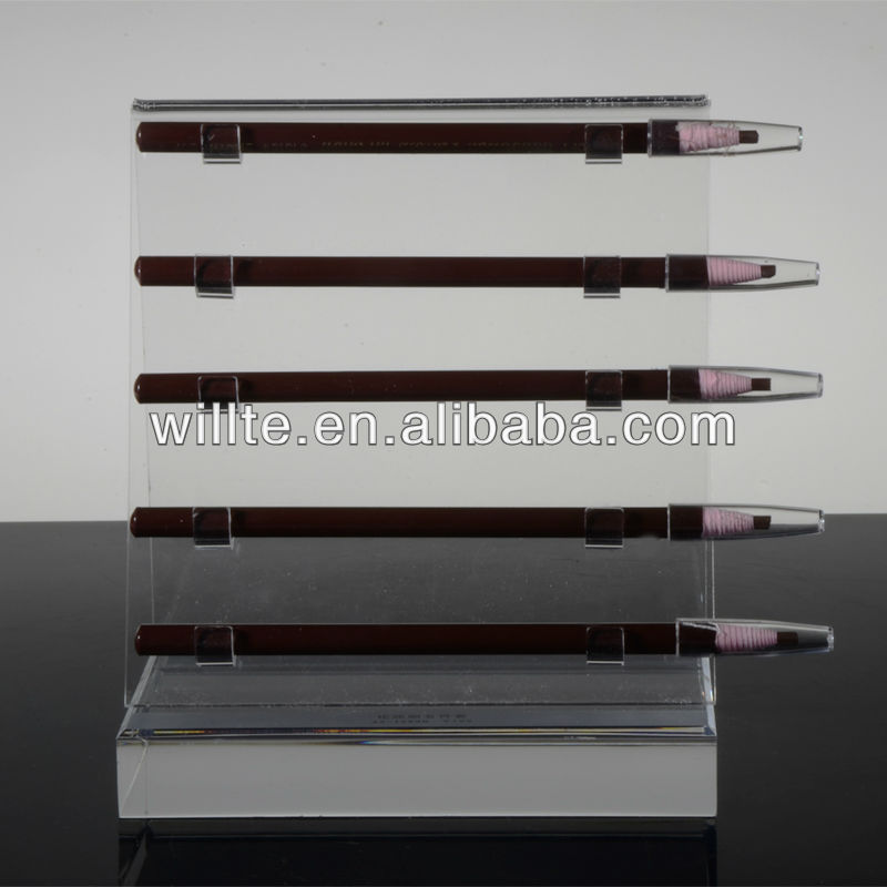 2013 high transparancy Acrylic Lip & Eyeliner Pencil Display