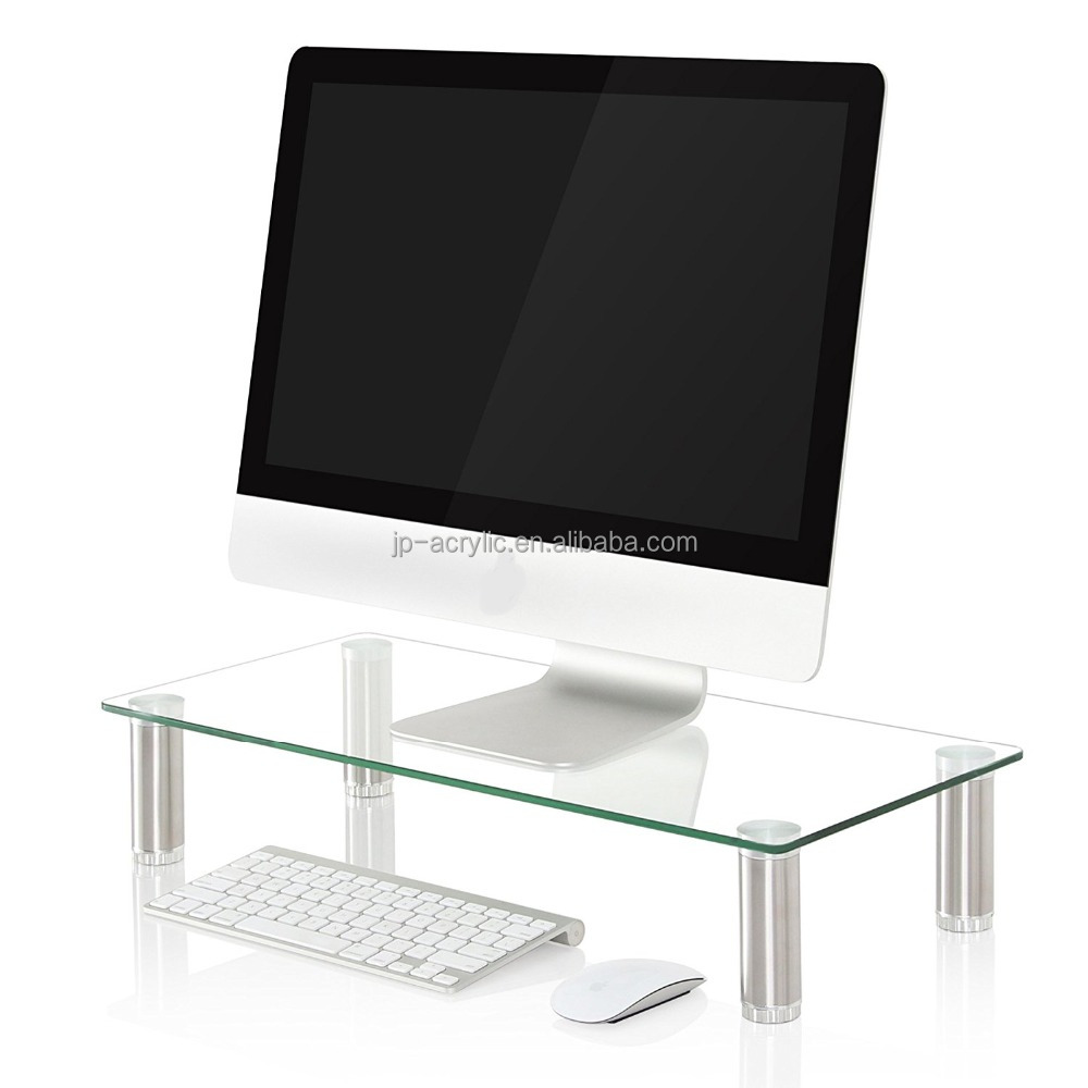 Acrylic Clear Computer TV Monitor Riser Stand