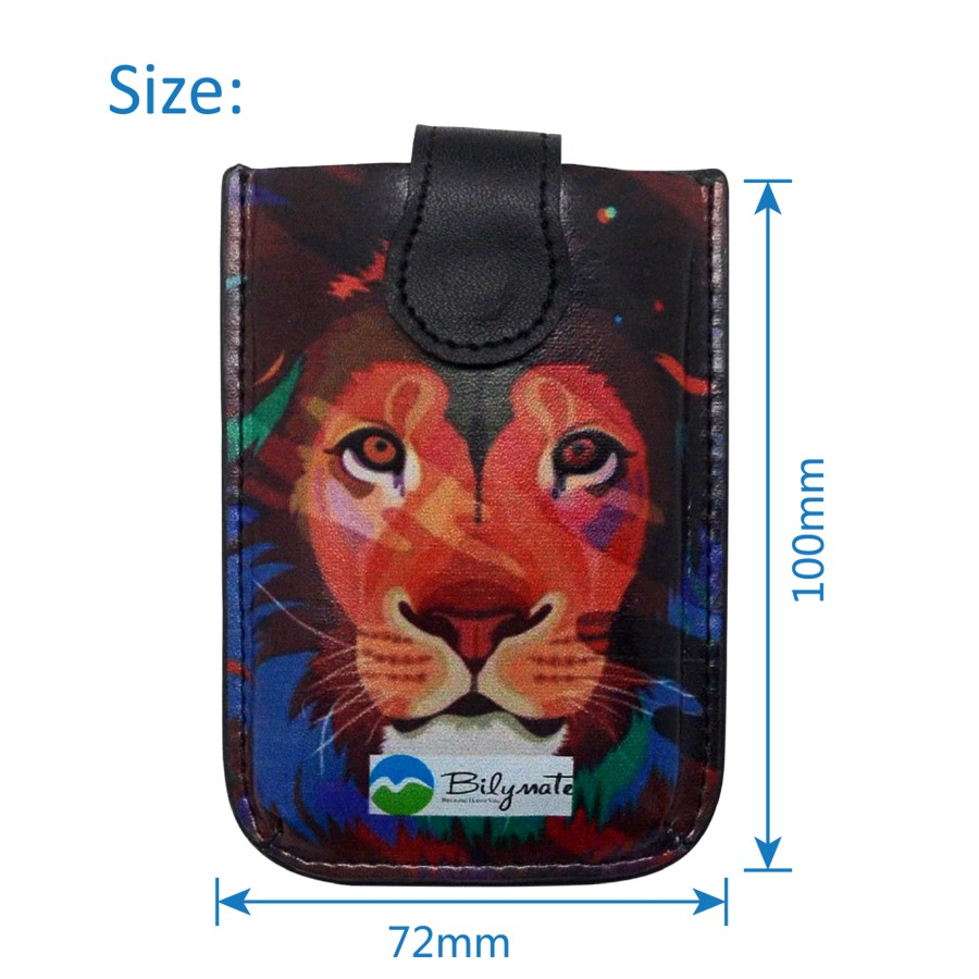 Multi-port visiting pvc card holder leather