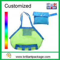 Factory Kids foldable hanging beach tote organizer toy storage mesh bag