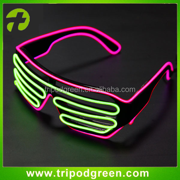 Fashion shutter sunglasses led Shutter flashing glasses EL Wire Glasses for party & event