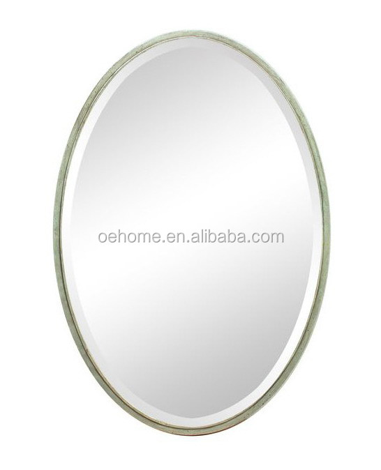 Iron Novelty Oval Dressing Mirror