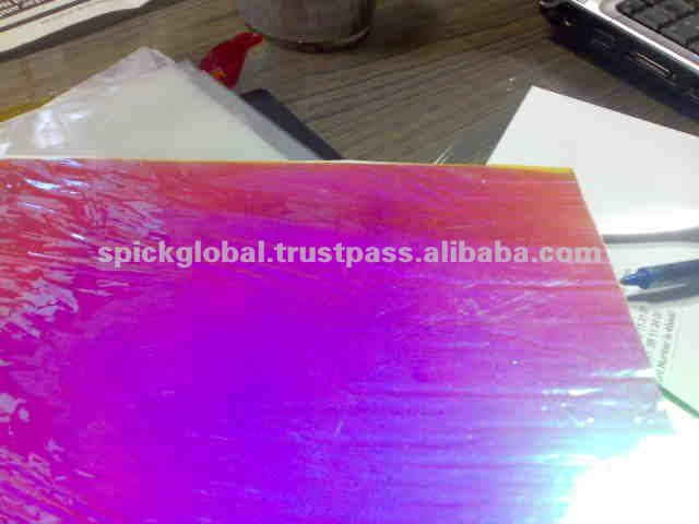 Transparent Rainbow Blue Pink Effect Aurora Film