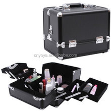 "12"" Alumi Makeup Cosmetic Train Case Beauty Storage Box with Shoulder Strap and Portable Handle UJBC225B"