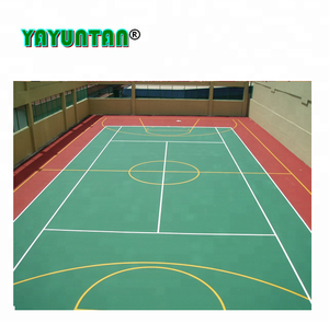 professional polyurethane used multi-purpose sport court flooring / outdoor basketball court flooring