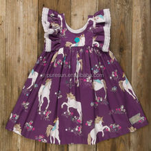 New fashion kids cotton frocks dress tunic design wholesale spring summer baby girl boutique flower dresses