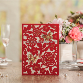 2017 wishmade red laser cut wedding invitation card with butterfly 2017 wishmade red laser cut wedding invitation card with butterfly cw5270 stopboris Image collections