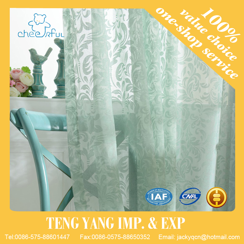 Home textile Embroidery Window use cheap string curtain