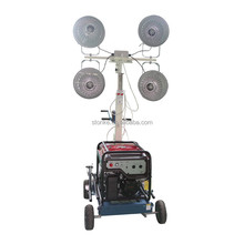 POWERGEN Manual Winch Mast 4.8m with Metal Halide Lamp 4x400W Mobile 5KW Diesel Generator Portable Light