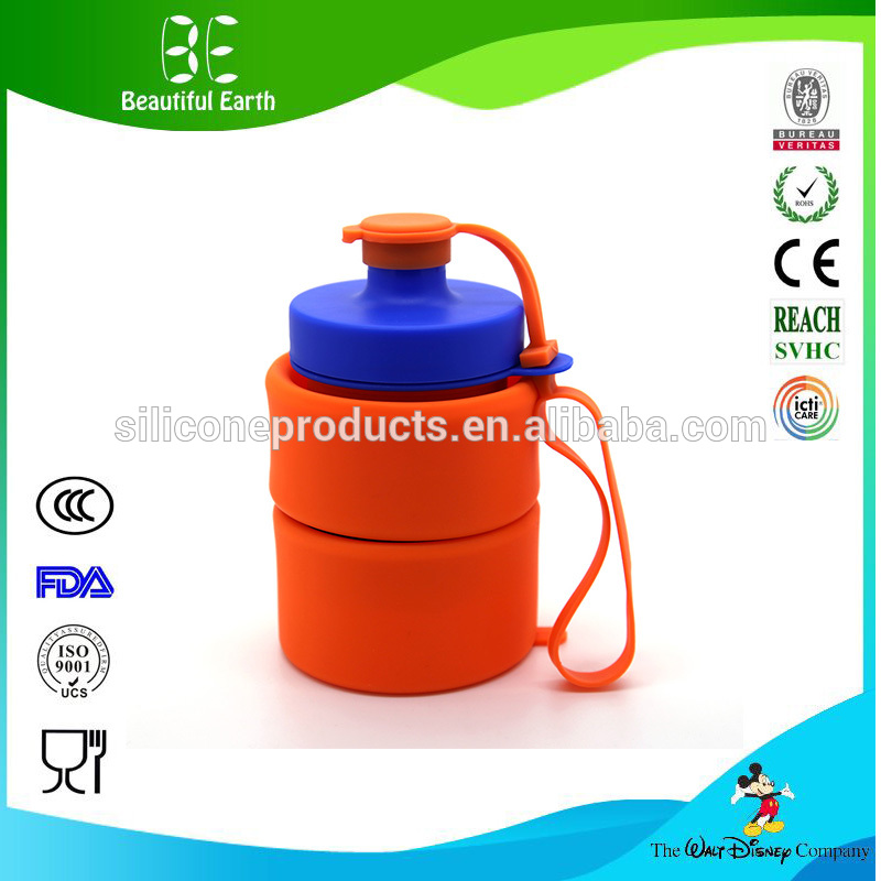 Wholesale New Design Outdoor Sports Silicone Recycled Foldable Water Drinking Bottle