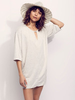 Supply V-neck and low scoop back with super soft fabric ladies shift dress