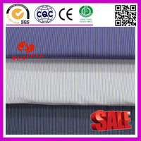 100% cotton white grey blue black stripe fabric