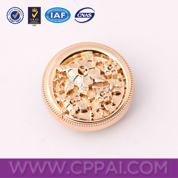 2015 the newest fashion custom made sewing metal button
