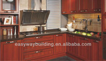 American Style Red Cherry Solid Wood Frame Kitchen Cabinets