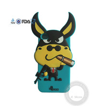 3D animal shape Silicone cell phone case