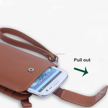 Free shippig New Arrival 2 Colors Luxury Leather Mobile Phone Wallets For SAMSUNG Galaxy S5 S4 Ace Case For HTC One Case Men