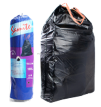 Garbage industry use drawstring plastic bag,PE drawstring bag for trash