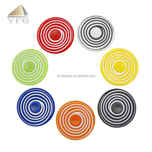 Factory direct sales print round colorful fidget tri hand spinner toys
