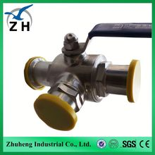 foode grade High quality sanitary 3 way ball valve ball float check valve 1 inch ball valve